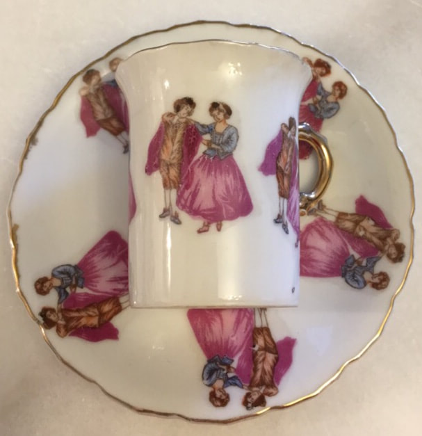 Victorian Demitasse Teacup Set